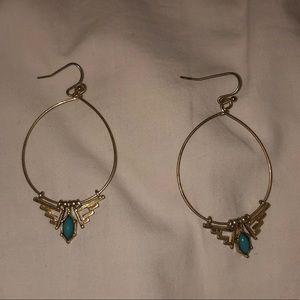 Gently worn turquoise Lulus earrings